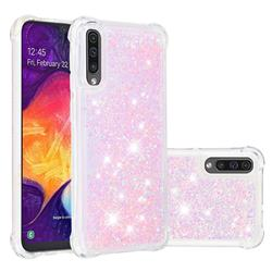 Dynamic Liquid Glitter Sand Quicksand TPU Case for Samsung Galaxy A30s - Silver Powder Star
