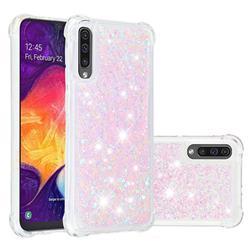 Dynamic Liquid Glitter Sand Quicksand Star TPU Case for Samsung Galaxy A30s - Pink
