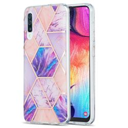 Purple Dream Marble Pattern Galvanized Electroplating Protective Case Cover for Samsung Galaxy A30s