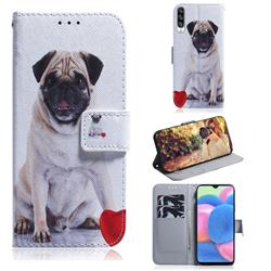 Pug Dog PU Leather Wallet Case for Samsung Galaxy A30s
