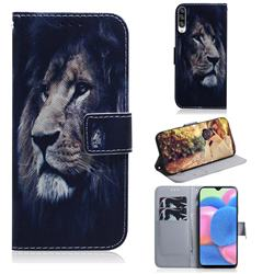 Lion Face PU Leather Wallet Case for Samsung Galaxy A30s