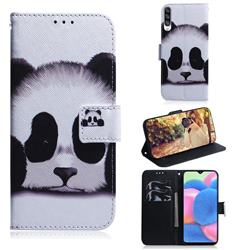 Sleeping Panda PU Leather Wallet Case for Samsung Galaxy A30s