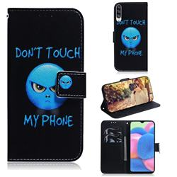 Not Touch My Phone PU Leather Wallet Case for Samsung Galaxy A30s