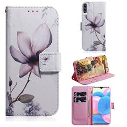 Magnolia Flower PU Leather Wallet Case for Samsung Galaxy A30s