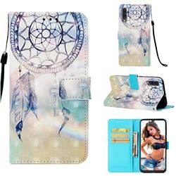 Fantasy Campanula 3D Painted Leather Wallet Case for Samsung Galaxy A30s