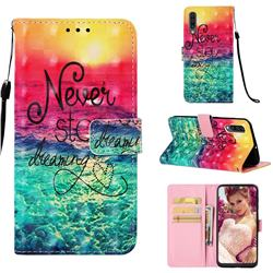 Colorful Dream Catcher 3D Painted Leather Wallet Case for Samsung Galaxy A30s