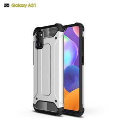 King Kong Armor Premium Shockproof Dual Layer Rugged Hard Cover for Samsung Galaxy A31 - White