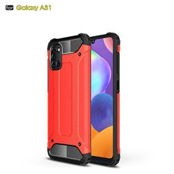 King Kong Armor Premium Shockproof Dual Layer Rugged Hard Cover for Samsung Galaxy A31 - Big Red