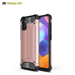 King Kong Armor Premium Shockproof Dual Layer Rugged Hard Cover for Samsung Galaxy A31 - Rose Gold