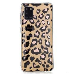 Leopard Galvanized Rose Gold Marble Phone Back Cover for Samsung Galaxy A31