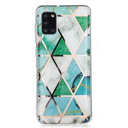 Green White Galvanized Rose Gold Marble Phone Back Cover for Samsung Galaxy A31