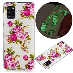 Peony Noctilucent Soft TPU Back Cover for Samsung Galaxy A31