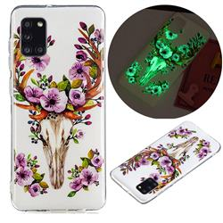 Sika Deer Noctilucent Soft TPU Back Cover for Samsung Galaxy A31