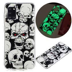 Red-eye Ghost Skull Noctilucent Soft TPU Back Cover for Samsung Galaxy A31