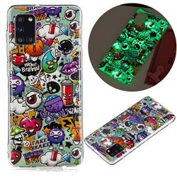 Trash Noctilucent Soft TPU Back Cover for Samsung Galaxy A31