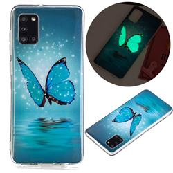 Butterfly Noctilucent Soft TPU Back Cover for Samsung Galaxy A31