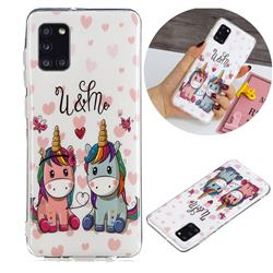 Couple Unicorn Noctilucent Soft TPU Back Cover for Samsung Galaxy A31