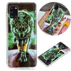 Wolf King Noctilucent Soft TPU Back Cover for Samsung Galaxy A31