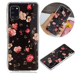 Rose Flower Noctilucent Soft TPU Back Cover for Samsung Galaxy A31