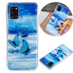 Flying Butterflies Noctilucent Soft TPU Back Cover for Samsung Galaxy A31