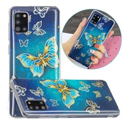Golden Butterfly Painted Galvanized Electroplating Soft Phone Case Cover for Samsung Galaxy A31