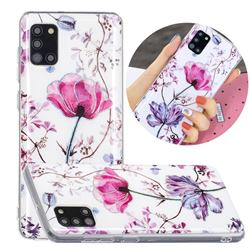 Magnolia Painted Galvanized Electroplating Soft Phone Case Cover for Samsung Galaxy A31