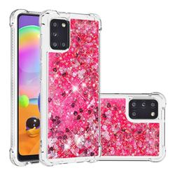 Dynamic Liquid Glitter Sand Quicksand TPU Case for Samsung Galaxy A31 - Pink Love Heart