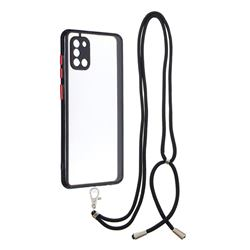 Necklace Cross-body Lanyard Strap Cord Phone Case Cover for Samsung Galaxy A31 - Black