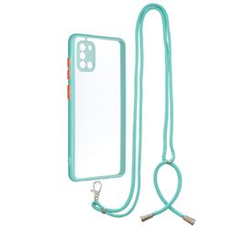 Necklace Cross-body Lanyard Strap Cord Phone Case Cover for Samsung Galaxy A31 - Blue