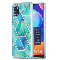Green Glacier Marble Pattern Galvanized Electroplating Protective Case Cover for Samsung Galaxy A31