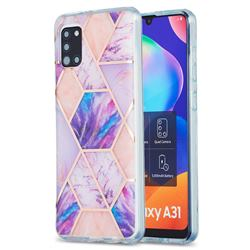Purple Dream Marble Pattern Galvanized Electroplating Protective Case Cover for Samsung Galaxy A31