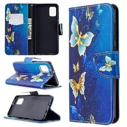 Golden Butterflies Leather Wallet Case for Samsung Galaxy A31