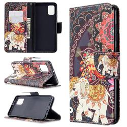 Totem Flower Elephant Leather Wallet Case for Samsung Galaxy A31