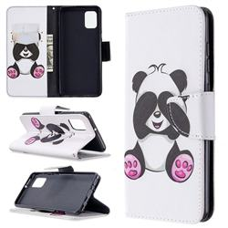 Lovely Panda Leather Wallet Case for Samsung Galaxy A31