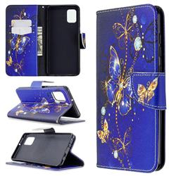 Purple Butterfly Leather Wallet Case for Samsung Galaxy A31