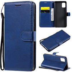 Retro Greek Classic Smooth PU Leather Wallet Phone Case for Samsung Galaxy A31 - Blue