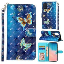 Rankine Butterfly 3D Leather Phone Holster Wallet Case for Samsung Galaxy A31