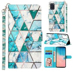 Stitching Marble 3D Leather Phone Holster Wallet Case for Samsung Galaxy A31