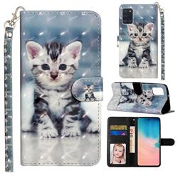 Kitten Cat 3D Leather Phone Holster Wallet Case for Samsung Galaxy A31