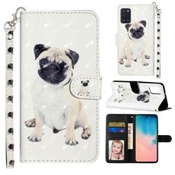 Pug Dog 3D Leather Phone Holster Wallet Case for Samsung Galaxy A31