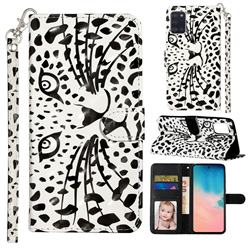Leopard Panther 3D Leather Phone Holster Wallet Case for Samsung Galaxy A31