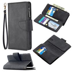 Binfen Color BF02 Sensory Buckle Zipper Multifunction Leather Phone Wallet for Samsung Galaxy A31 - Black