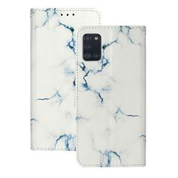 Soft White Marble PU Leather Wallet Case for Samsung Galaxy A31