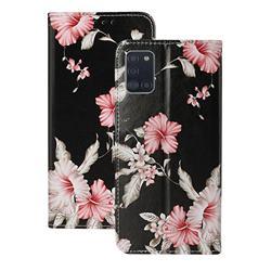 Azalea Flower PU Leather Wallet Case for Samsung Galaxy A31