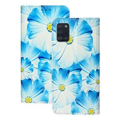 Orchid Flower PU Leather Wallet Case for Samsung Galaxy A31
