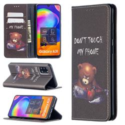 Chainsaw Bear Slim Magnetic Attraction Wallet Flip Cover for Samsung Galaxy A31