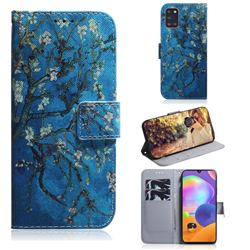Apricot Tree PU Leather Wallet Case for Samsung Galaxy A31
