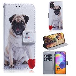 Pug Dog PU Leather Wallet Case for Samsung Galaxy A31