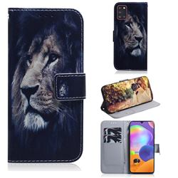 Lion Face PU Leather Wallet Case for Samsung Galaxy A31