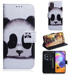 Sleeping Panda PU Leather Wallet Case for Samsung Galaxy A31